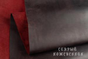 Кожа Крейзи хорс (темное-бордо)